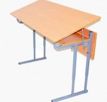 Стол ученический 2-х местный с регулировкой высоты и угла наклона столешницы 0-30 градусов (2-4, 3-5, 4-6)