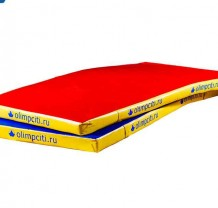 Мат гимнастический малый Velcro 1600x800x50mm (вин.кожа)
