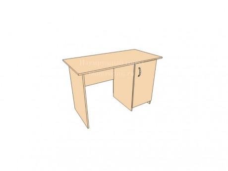 Стол письменный однотумбовый с дверкой