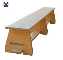 Скамейка гимнастическая жесткая Ф-1500
