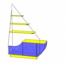 Игровой стеллаж Кораблик