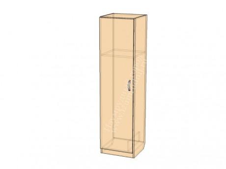 Шкаф для уборочного инвентаря с нишей для ведра и разделением для швабры
