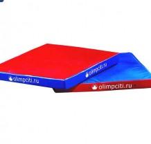 Мат гимнастический квадратный Velcro 1000x1000x100mm (вин.кожа)