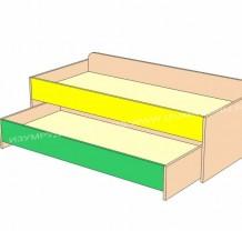 Кровать двухъярусная без короба