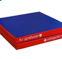 Мат гимнастический складной 2000x1000x100mm (вин.кожа) 2х