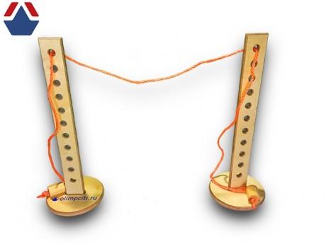 Стойки для прыжков в высоту из фанеры детские со шнуром
