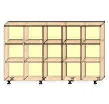Стеллаж для горшков на 15 секций, вертикальный или горизонтальный