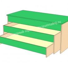 Кровать трехъярусная с крышкой