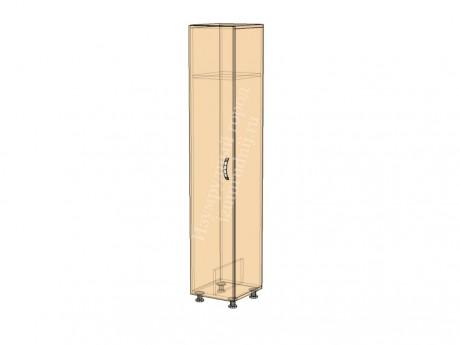 Шкаф для уборочного инвентаря малый (с полкой и разделением для швабр)