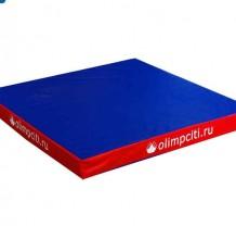 Мат гимнастический квадрат 1000x1000x100mm (вин.кожа)-АС