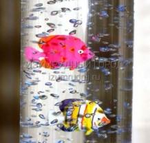 Воздушно-пузырьковая колонна с пультом ДУ, 1,5м. Диаметр 10см.